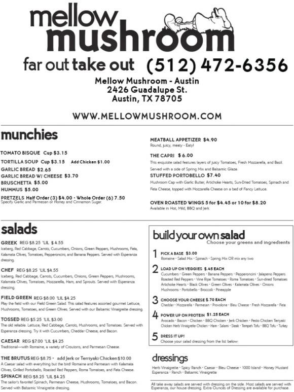 Mellow mushroom discount coupons