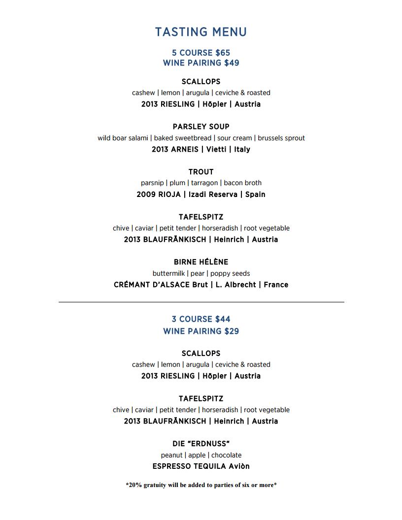 Prelog's menu
