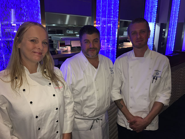Chelsea, Chef Ben Nathan, and Cy