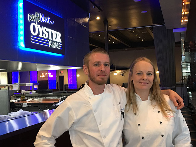 Cy and Chelsea Buchheister, the chefs of both Cafe Blues.