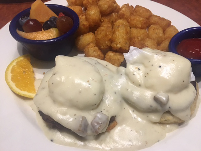 Cafe Blue Biscuits and Gravy Eggs Benedict