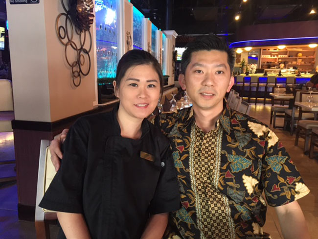 Lili and Andre, the owners of EurAsia Sushi Bar & Seafood Austin Texas