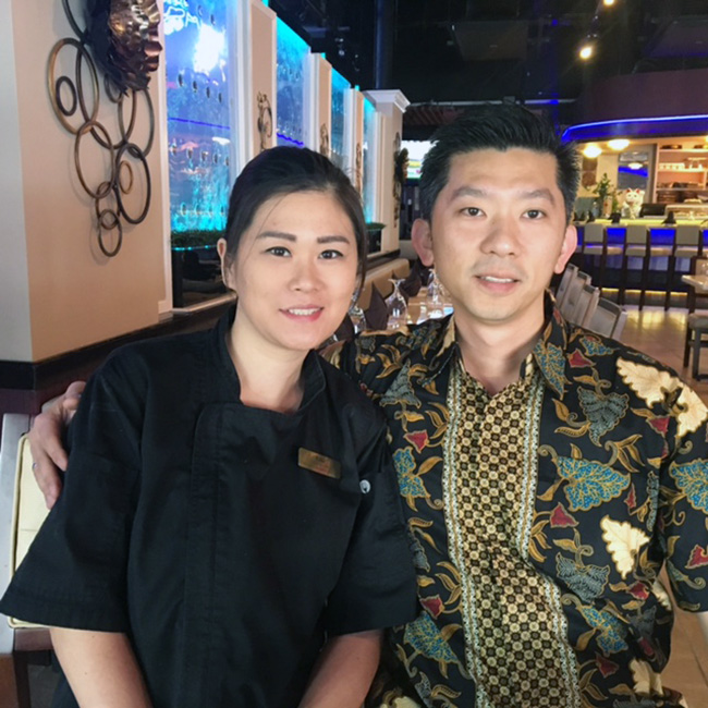 Andre and Lili Dinata, owners of EurAsia Sushi Bar & Seafood Austin TX
