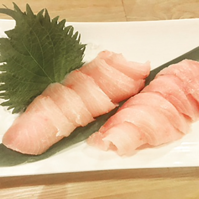 The hamachi sashimi at Street Restaurant Austin Texas