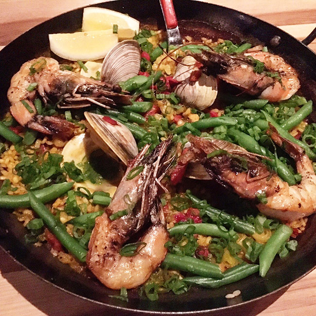Seafood Paella, Bullfight, Ausstin Texas spanish food
