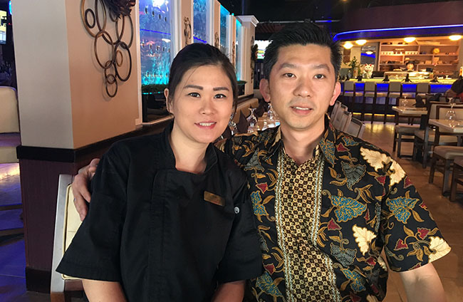 Andre and Lili Dinata, owners of EurAsia Sushi Bar & Seafood