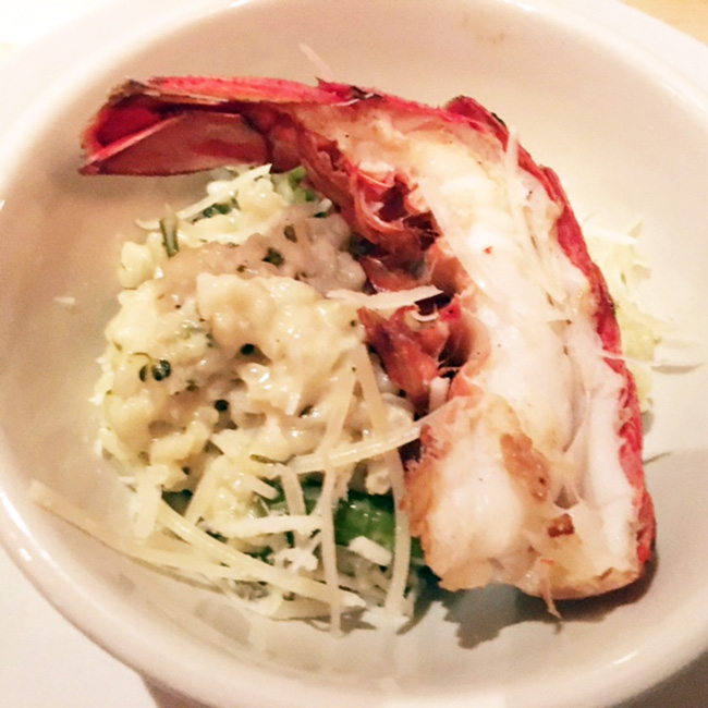 Butter poached lobster risotto at Jobell Cafe & Bistro Wimberley Texas