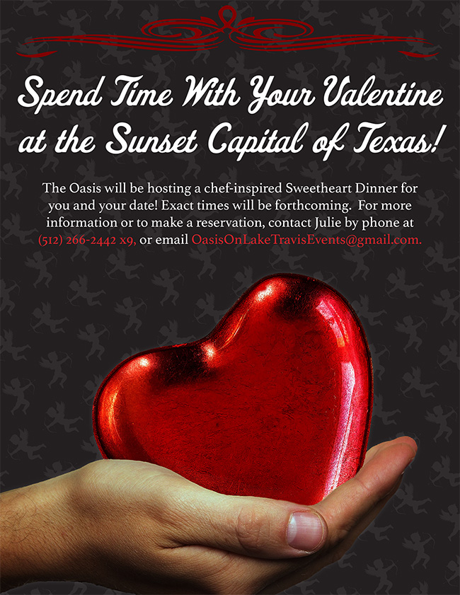 Oasis Austin Valentines Menu