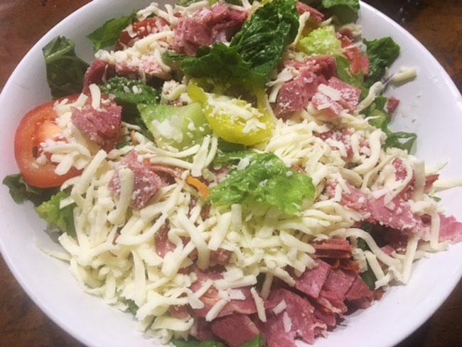 The antipasto salad at Craig O's Pizza & Pastaria
